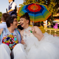 Jennie & Verity's beautiful summer rainbow wedding, with Artisan X Photography