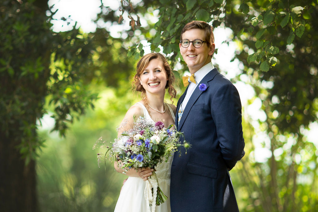 Vegan wedding at Cadhay House in Devon with a bespoke dress made by Felicity Westmacott.