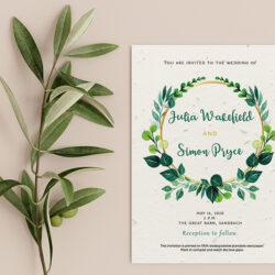 Eco friendly wedding stationery tips from Little Green Wedding