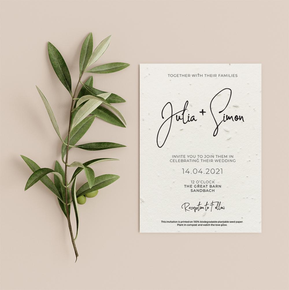 Signature invitation by Little Green Wedding