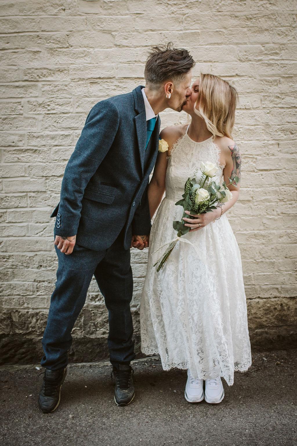 alternative farm micro wedding with Hannah Brooke Photography