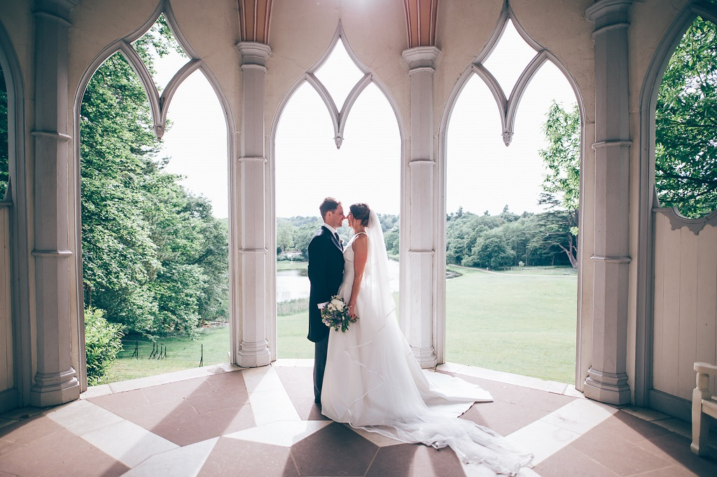 Real Wedding at Painshill Gothic Temple captured by Eleanor Joy Photography
