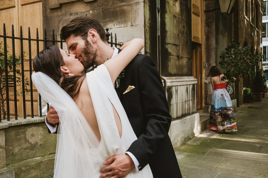 Intimate London micro wedding photography by York Place Studios