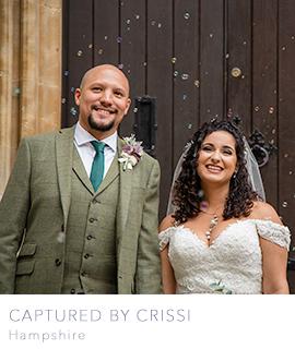 Hampshire wedding photographer Captured by Crissi