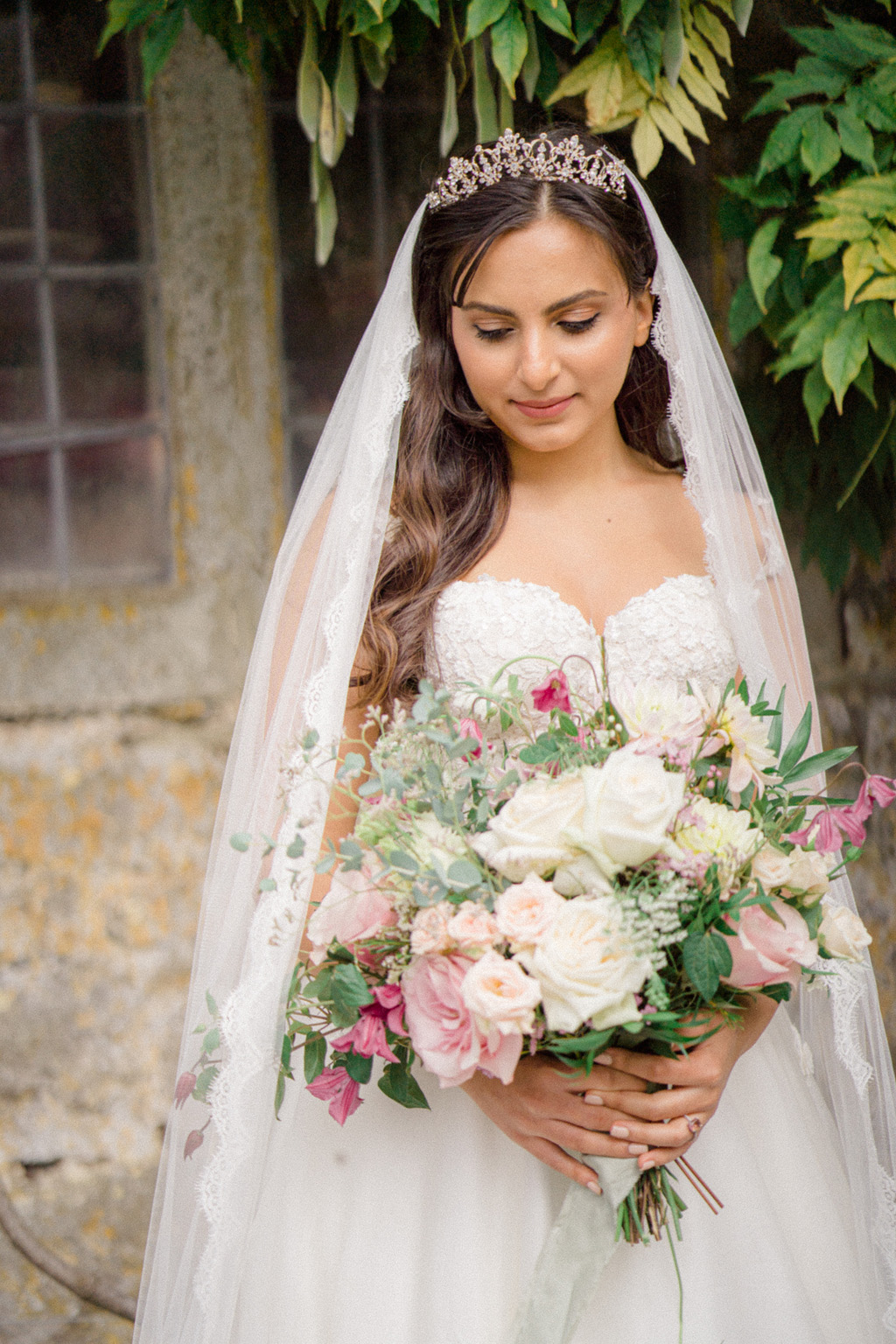 elegant and stylish modern classic wedding ideas from Clearwell Castle. Image credit Sara Cooper Photography