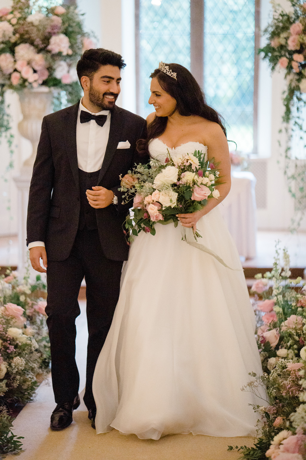 horse and carriage, classic bride and groom styling at Clearwell Castle, credit Sara Cooper Photography on English Wedding