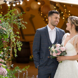 Pretty Pastels in a Tipi set in an Enchanting Bluebell Woodland; The Perfect Secret Garden Wedding
