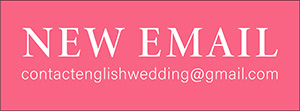 badge with email address for english wedding blog