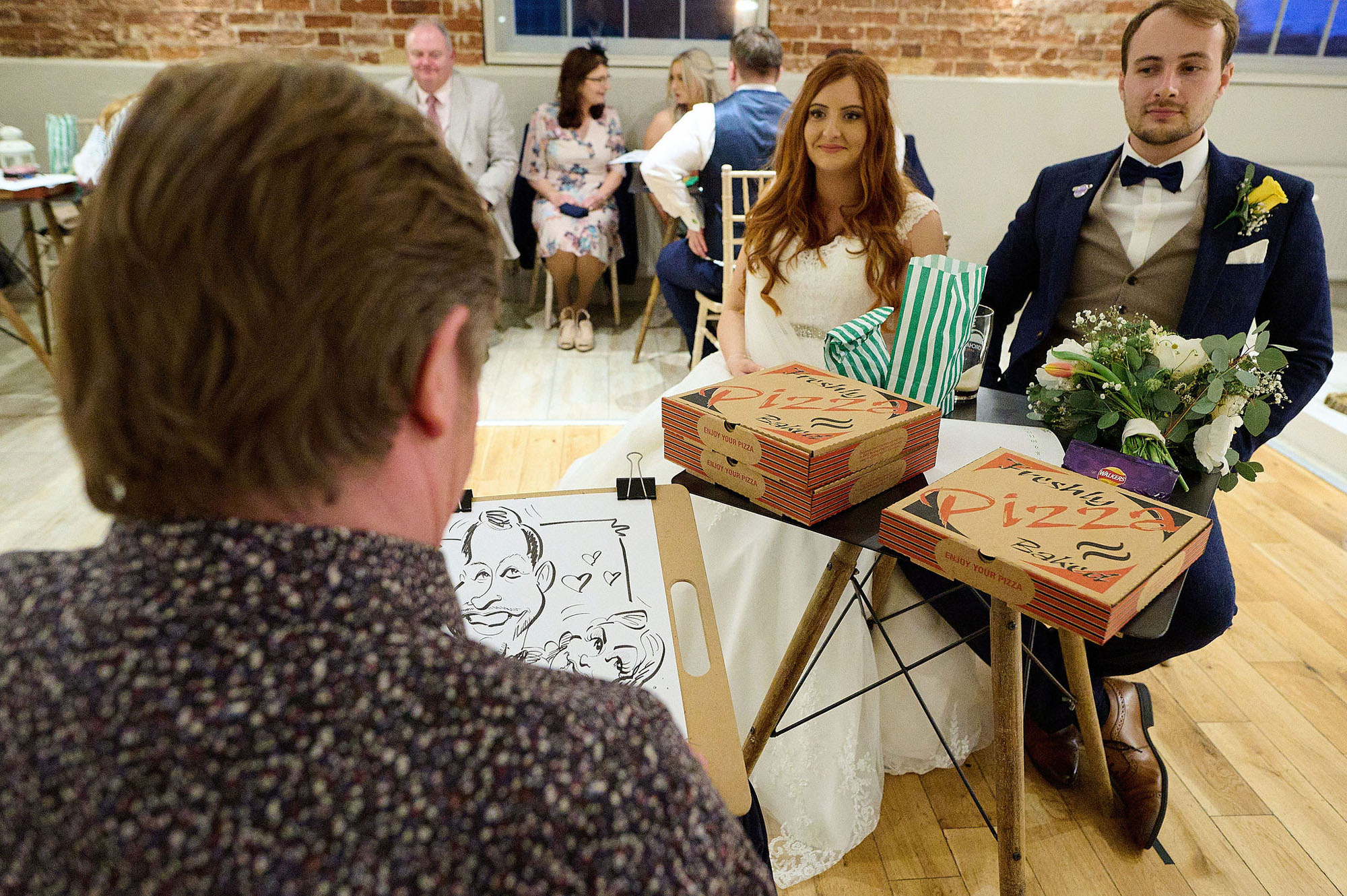 Joe and Jess's elegant rustic wedding at Sopley Mill. We love their bright yellow florals, the rustic ambience of the mill and the photos by Libra Photographic