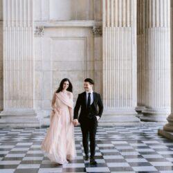 Katia & John's elegant engagement shoot by St Paul's Cathedral